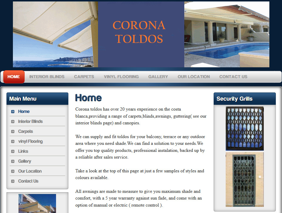 Corona Toldos / Canopy