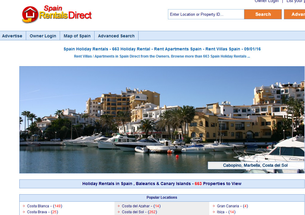 Spain Rentals Direct
